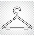 hanger icon in line style wardrobe hanger flat vector image