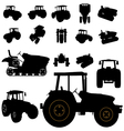 tractor silhouette vector image