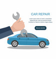 automobile repair service and maintenance vector image vector image