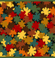 autumn decorative camouflage pattern background vector image vector image