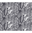 beautiful seamless pattern with tropical jungle vector image vector image