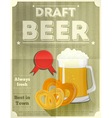 beer draft poster vector image vector image