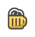 beer mug icon alcohol hops drink cartoon vector image