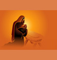 biblical series mary holding baby jesus vector image vector image