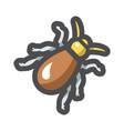 big cockroach pest icon cartoon vector image