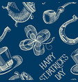 blue st patricks day seamless pattern vector image vector image