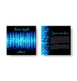 bright banner with neon light vector image vector image