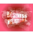 business relations interface hi technology touch vector image