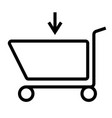 caddie shop shopping icon vector image vector image