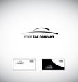 Car logo design icon vector image vector image