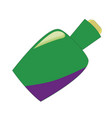 cartoon potion bottle vial with green liquid for vector image