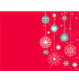 christmas background with red snowflakes place vector image vector image