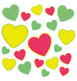 color heart background icon vector image vector image
