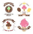 Colorful ice cream banners vector image vector image