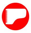 concert grand piano sign white icon in vector image