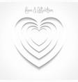 creative design heart vector image vector image