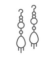 earring pair thin line icon jewellery and vector image vector image