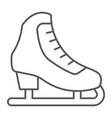 figure skating thin line icon activity and sport vector image vector image