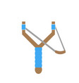 forked slingshot icon vector image vector image