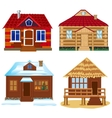 Four buildings vector image vector image