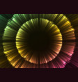 glow abstract flower layer in dark background vector image vector image