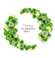 Gold coins with clover vector image vector image