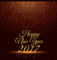 happy new year 2017 holiday greeting in vintage vector image vector image