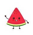 happy smilling cute watermelon vector image vector image