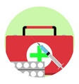 health care app icon vector image vector image