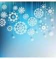 High definition snowflakes on blue EPS 10 vector image vector image