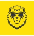 Hipster Style Lion Head Logo in Glasses vector image vector image