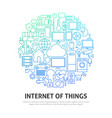 internet of things circle concept vector image vector image