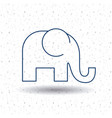 isolated elephant animal design vector image vector image