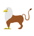 isolated griffin icon vector image