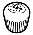 isolated muffin outline vector image