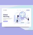 landing page template of global warming concept vector image
