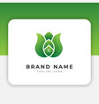leaf logo design inspiration vector image