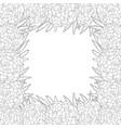 marigold flower - tagetes outline border vector image