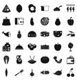 meal icons set simple style vector image vector image