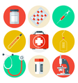 Medical Tools Icons Set Medical Background vector image vector image