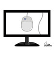 mouse inside to screen tv vector image vector image