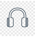 music concept linear icon isolated on transparent vector image