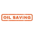 Oil Saving Rubber Stamp vector image vector image