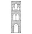 one bay of transept winchester cathedral monastic vector image vector image
