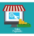 Online payments icons vector image