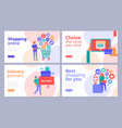 online shopping concept banners vector image vector image
