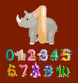 ordinal number 1 for teaching children counting vector image vector image
