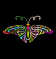 ornate colorful butterfly for your design vector image vector image