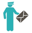 Postman icon from Business Bicolor Set vector image vector image