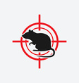 rat icon red target vector image vector image
